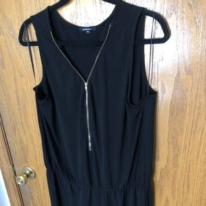 Zip-Up Black Romper